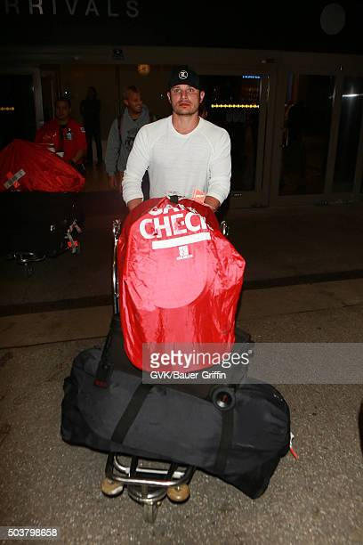 Nick Lachey is seen at LAX on January 06 2016 in Los Angeles California