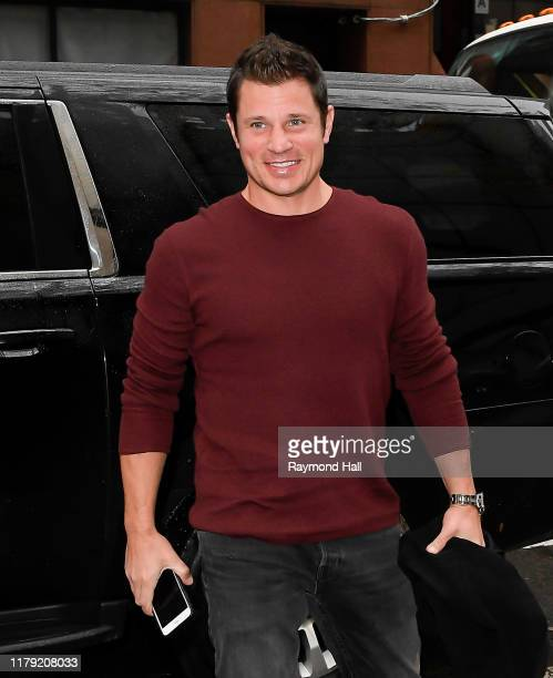Nick Lachey is seen in midtown on October 31 2019 in New York City
