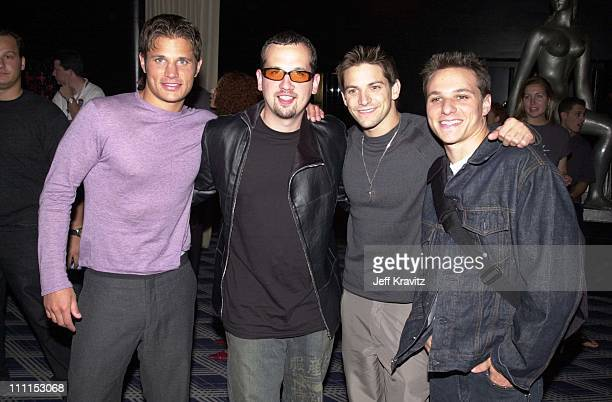 Nick Lachey Jeff Timmons Justin Jeffre and Drew Lachey of 98 Degrees
