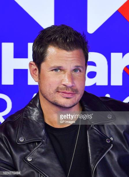 Nick Lachey of 98 Degrees at the 2018 iHeartRADIO MuchMusic Video Awards at MuchMusic HQ Press Room on August 26 2018 in Toronto Canada