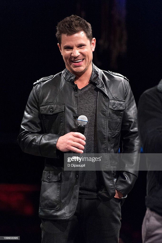 Nick Lachey of 98 Degrees attends the Package Tour Special Announcementat Irving Plaza on January 22, 2013 in New York City.