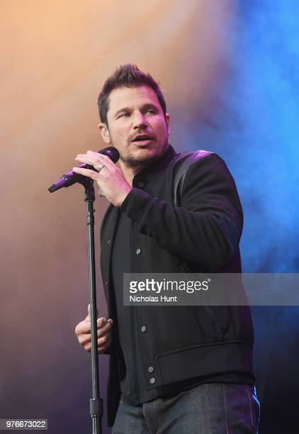 Nick Lachey of 98 Degrees performs onstage at 103.5 KTU's KTUphoria on June 16, 2018 in Wantagh City.