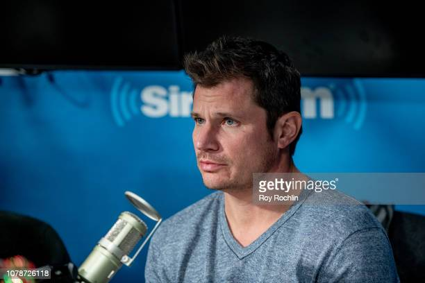 Nick Lachey of 98 Degrees visits SiriusXM Studios on December 07 2018 in New York City
