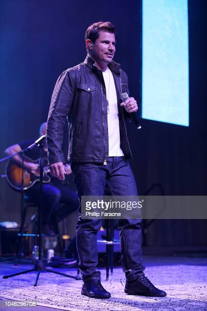 Nick Lachey performs onstage during the Wellness Your Way Festival at Duke Energy Convention Center on October 5 2018 in Cincinnati Ohio