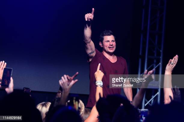 Nick Lachey performs with 98 Degrees during Under The Stars 2019 at Riverside Yacht Club on May 17 2019 in Riverside Connecticut