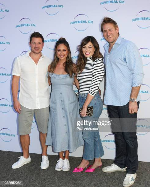 Nick Lachey Vanessa Lachey Lindsay Price and Curtis Stone attend the Universal Kids family event celebrating new series 'American Ninja Warrior...