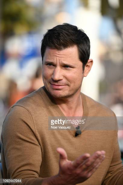 Nick Lachey visits 'Extra' at Universal Studios Hollywood on January 10 2019 in Universal City California