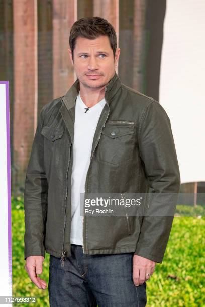 Nick Lachey Visits 'Fox Friends' to discuss 'American Kennel Club' show at Fox News Channel Studios on February 05 2019 in New York City