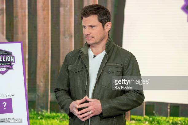 Nick Lachey Visits 'Fox Friends' to discuss the 'American Kennel Club' show at Fox News Channel Studios on February 05 2019 in New York City