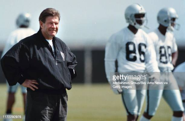 Nick Lammers 5/2/97 Tribune Sports#13#13Raiders coach Joe Bugel is happy with the look of minicamp#13