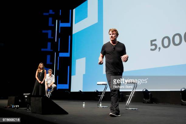 Nick Law speaks onstage during the Publicis and Arthur Sadoun session at the Cannes Lions Festival 2018 on June 19 2018 in Cannes France
