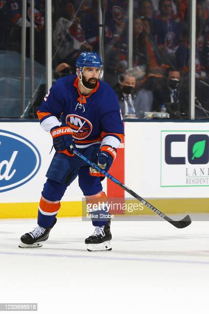 Nick Leddy of the New York Islanders in action against the Tampa Bay Lightning in Game Six of the Stanley Cup Semifinals of the 2021 Stanley Cup...