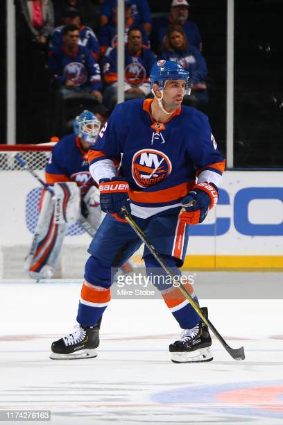 Nick Leddy of the New York Islanders in action against the Winnipeg Jets at Barclays Center on October 06 2019 in New York City New York Islanders...