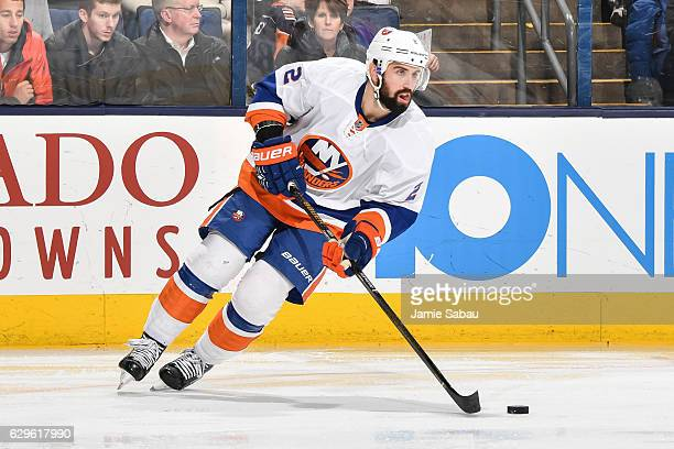 Nick Leddy of the New York Islanders skates against the Columbus Blue Jackets on December 10 2016 at Nationwide Arena in Columbus Ohio