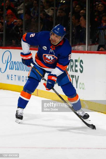 Nick Leddy of the New York Islanders skates against the New York Rangers at Barclays Center on January 12 2019 the Brooklyn borough of New York City...