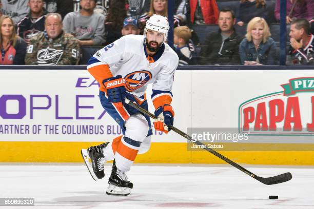 Nick Leddy of the New York Islanders skates the against Columbus Blue Jackets on October 6 2017 at Nationwide Arena in Columbus Ohio