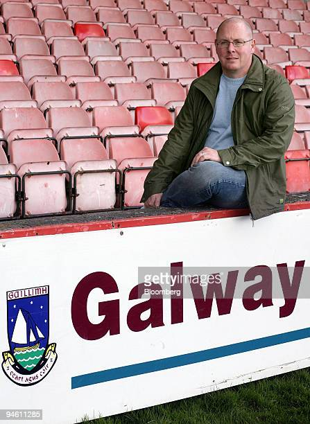 Nick Leeson former Barings's head trader in Singapore poses outside the grounds of Galway United FC where he is commercial manager in Galway Ireland...