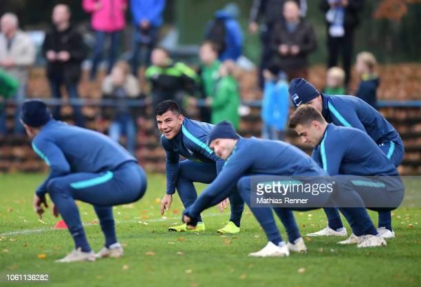 Nick Lima of Hertha BSC during the KiezkickerTrainings on november 13 2018 in Berlin Germany