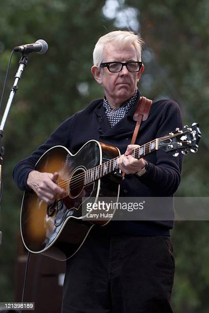 Nick Lowe at Hardly Strictly Bluegrass festival in Golden Gate Park in San Francisco, California on October 1, 2010.