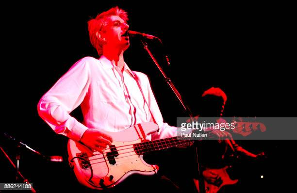 Nick Lowe performing at the Park West in Chicago, Illinois, November 9, 1985.