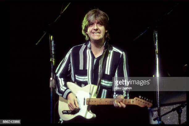 Nick Lowe performing at the Rosemont Horizon in Rosemont, Illinois, February 13, 1982.