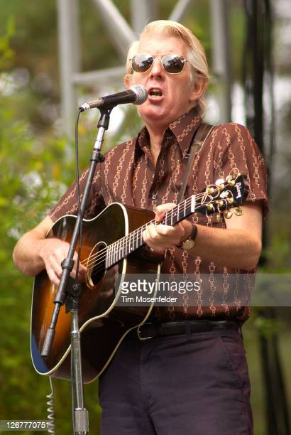 Nick Lowe performs during the Hardly Strictly Bluegrass festival at the Polo Fields in Golden Gate Park on October 2, 2004 in San Francisco,...