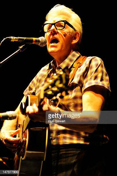 Nick Lowe performs on stage at Shepherds Bush Empire on June 28 2012 in London United Kingdom