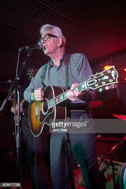 Nick Lowe performs on stage at Sidecar on December 12 2016 in Barcelona Spain