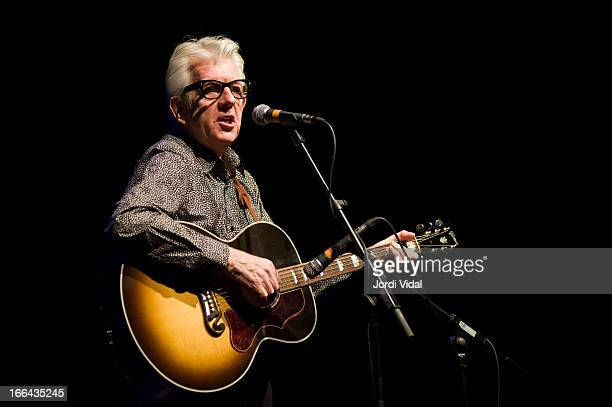 Nick Lowe performs on stage during Festival Blues i Ritmes at Teatre Zorrilla on April 12 2013 in Badalona Spain