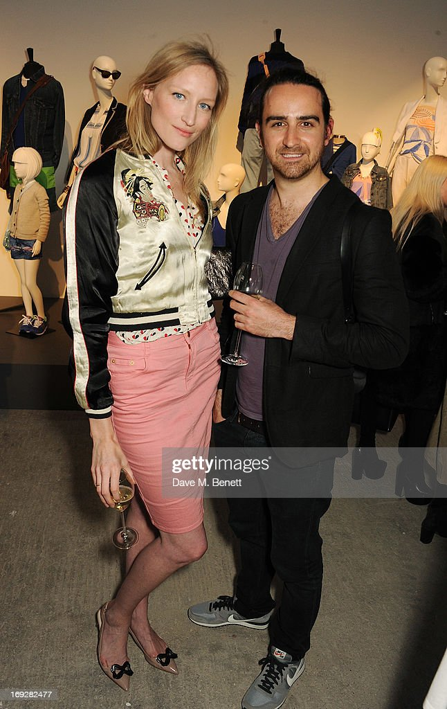 Nick Mainwaring and Jade Parfitt attend the J.Crew concept store to launch their partnership with Central Saint Martins College Of Arts And Design at The Stables on May 22, 2013 in London, England.