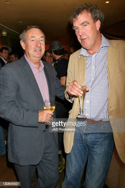 Nick Mason and Jeremy Clarkson during The Dangerous Lunch for Boys at Cocoon in London Great Britain