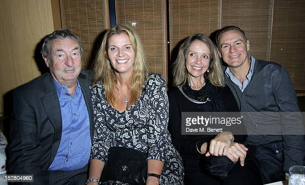 Nick Mason guest Sabrina Guinness and Bryan Adams attend the Pig Business Fundraiser at Sake No Hana on September 26 2012 in London England