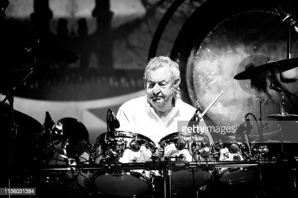 Nick Mason of Pink Folyd performs live on stage with his Saucerful of Secrets during the Rock in Roma at Auditorium Parco della Musica on July 17...