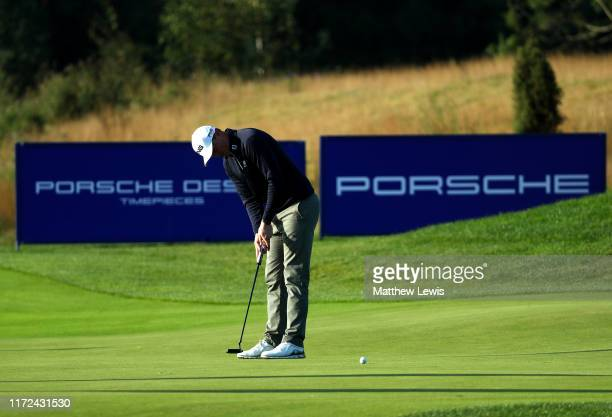 Nick McCarthy of England putts on the fourth green during Day one of the Porsche European Open at Green Eagle Golf Courses - Porsche Nord Course on...