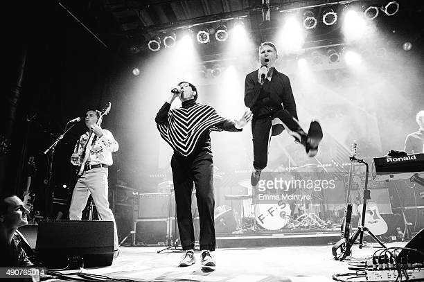 Nick McCarthy Russell Mael and Alex Kapranos of FFS perform live at the Phoenix Concert Theatre on September 30 2015 in Toronto Canada