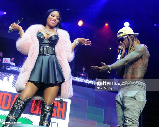 Nick Minaj and Lil Wayne make surprise appearances during the Hot 1079 Birthday Bash at Philips Arena on June 17 2017 in Atlanta Georgia