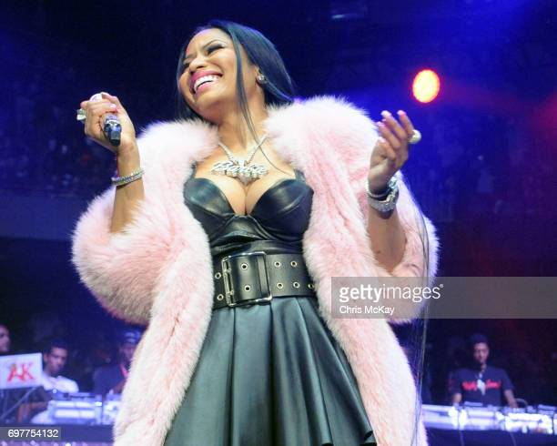 Nick Minaj makes a surprise appearance during the Hot 1079 Birthday Bash at Philips Arena on June 17 2017 in Atlanta Georgia