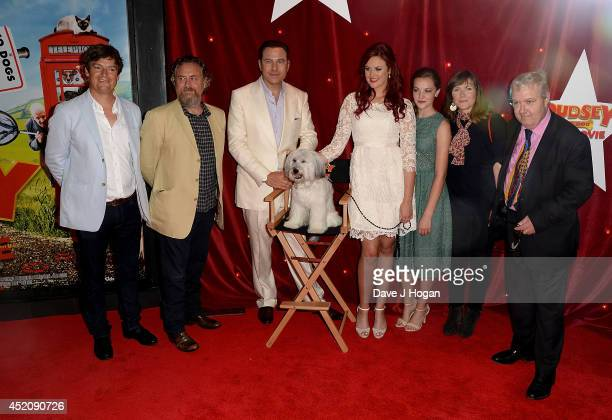 Nick Moore David Walliams Pudsey Ashleigh Butler Izzy MeikleSmall Jessica Hynes and John Sessions attend the World Premiere of 'Pudsey The Dog The...