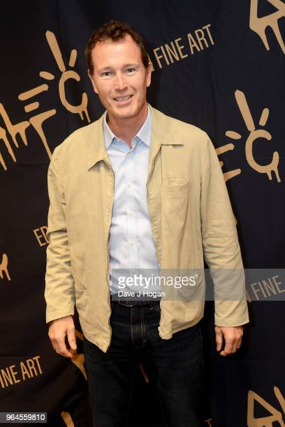 Nick Moran attends Alec Monopoly's 'Breaking the Bank on Bond Street' exhibition launch party at the Eden Fine Art Gallery on May 31 2018 in London...