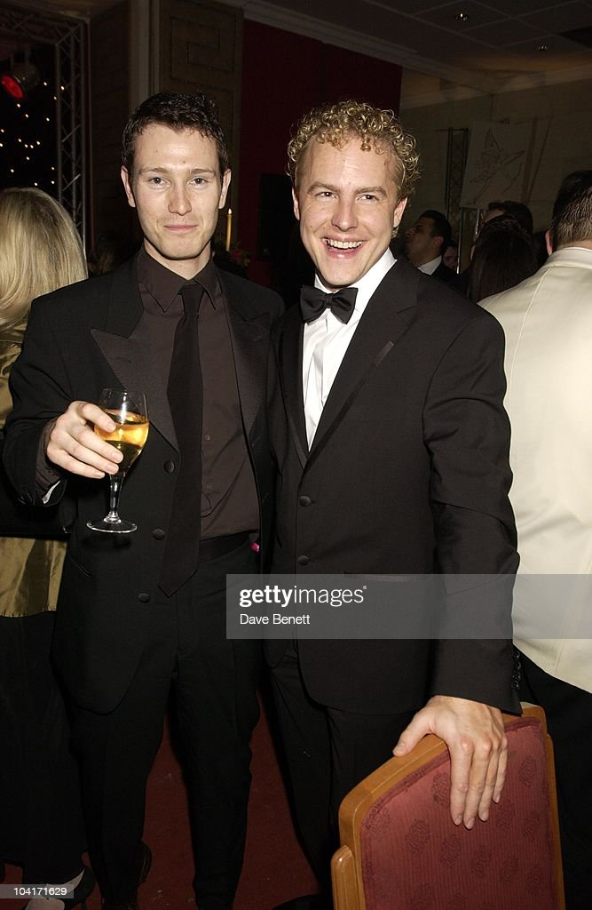 Nick Moran & Sam West, Evening Standard Film Awards, At The Savoy Hotel, London