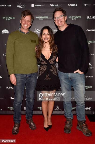 Nick Morton Sarah Shahi and Matthew Lillard attend the Whitewater Films Reception At The RAND Luxury Escape 2018 Park City at The St Regis Deer...