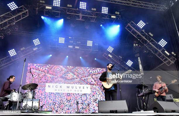 Nick Mulvey performs during the 2018 Outside Lands Music and Arts festival at Golden Gate Park on August 10 2018 in San Francisco California