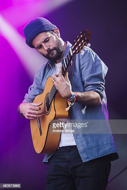 Nick Mulvey performs on the Main Stage at Kendal Calling Festival on August 1, 2015 in Kendal, United Kingdom.