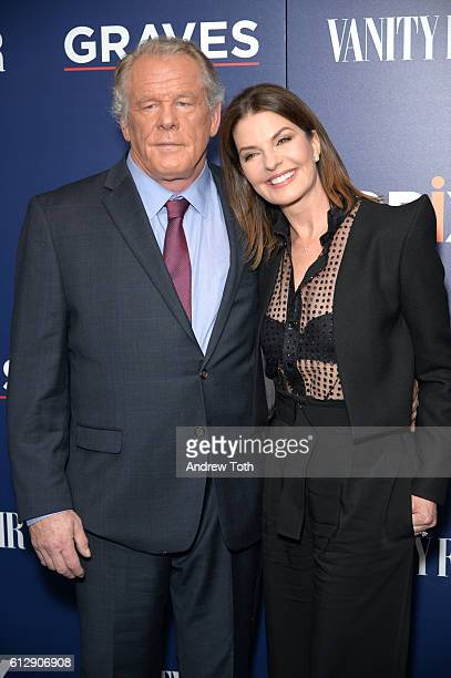 Nick Nolte and Sela Ward attend the premiere of EPIX original series 'Graves' at the Museum of Modern Art on October 5 2016 in New York City