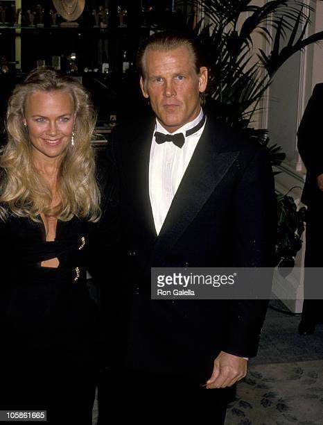 Nick Nolte and Wife Rebecca Linger during The 45th Annual Golden Globe Awards at Beverly Hilton Hotel in Beverly Hills California United States