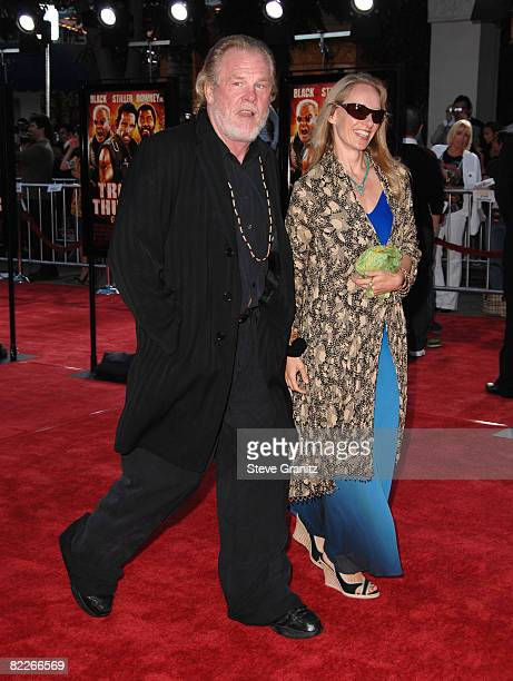 Nick Nolte arrives at the Los Angeles Premiere Of Tropic Thunder at the Mann's Village Theater on August 11 2008 in Los Angeles California