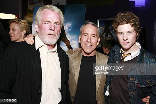 Nick Nolte Dan Millman and Ashton Holmes during Peaceful Warrior Screening at Laemmle's in Santa Monica CA United States