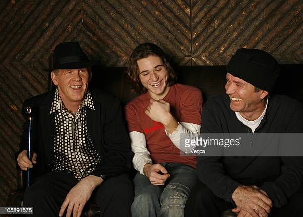 "Nick Nolte, Trevor Morgan and Timothy Hutton during 2006 Sundance Film Festival - ""Off the Black"" Portraits at HP Portrait Studio in Park City, Utah,..."