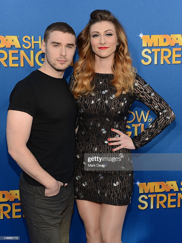 Nick Noonan and Amy Heidemann of the musical group Karmin attend the MDA Show of Strength held at CBS Television City on August 7, 2012 in Los Angeles, California. The show airs on Sunday, September 2, 2012 at 8PM