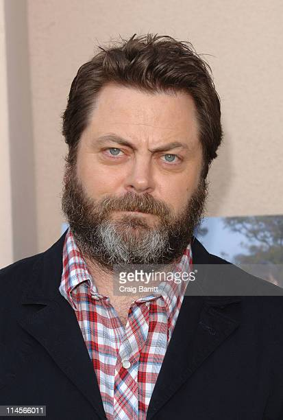 """Nick Offerman attends """"Parks And Recreation"""" EMMY Screening at Leonard Goldenson Theatre on May 23, 2011 in Hollywood, California."""